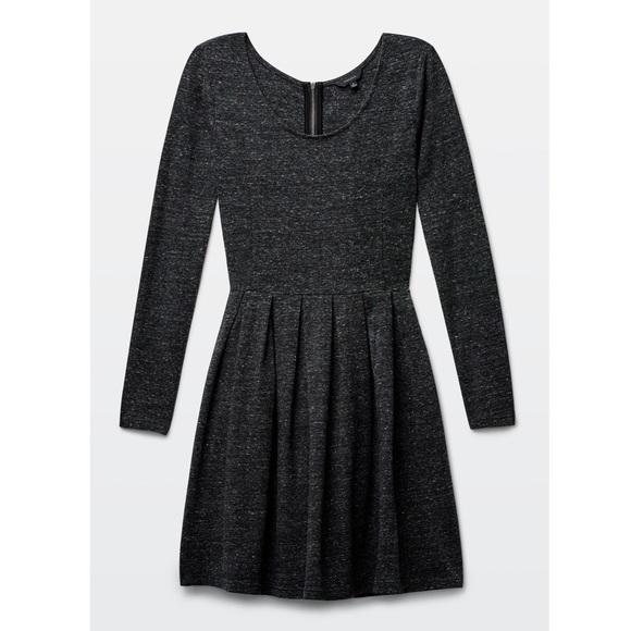 79d9361eedf NEW  128 Aritzia Talula Dark Grey Lambeth Dress M